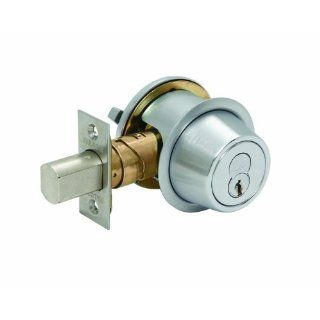 Falcon D241BD 626 (SFIC) D200 Series Grade 2 Non Handed Medium Duty Deadlock, Deadbolt Chasis, Single Cylinder, Small Format Interchangeable Core, Satin Chrome Finish Door Dead Bolts Door Dead Bolts