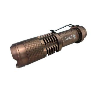 Aubig 628 180LM CREE LED Zoomable Flashlight Torch Rechargeable 18650 Battery Charger Light Lamp Sports & Outdoors