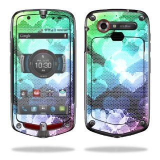 MightySkins Protective Vinyl Skin Decal Cover for Casio G'zOne Commando 4G LTE C811 GZ1 Verizon Cell Phone Sticker Skins Colorful Hearts Computers & Accessories