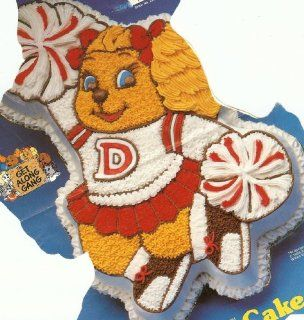 Wilton Dotty Dog / Cheerleader Cake Pan (2105 3975, 1985) Get Along Gang Kitchen & Dining