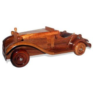 Vintage Handmade Carved Wooden Wood Model Car Home or Office Decoration (2038)   Collectible Vehicles