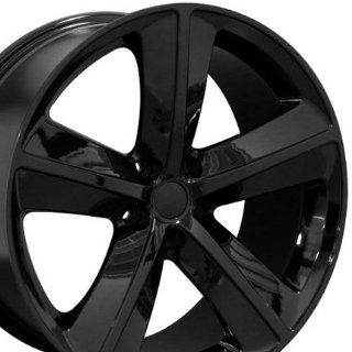 Challenger SRT Style Wheels Fits Dodge   Black 20x9 Set of 4 Automotive