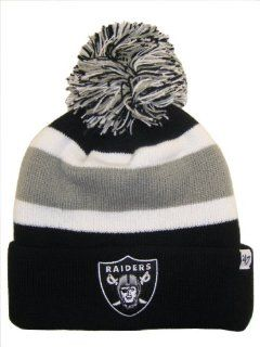 Oakland Raiders NFL Long Beanie Knit Ski Cap Hat w/ POM