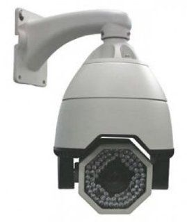 "1/4"" Sony CCD 540TVL Day/Night 27x/12x Outdoor IP66 Weatherproof Long Range Infrared Pan Tilt Zoom IR PTZ Dome Camera, 24v WDR, ICR, Heater/Blower  Camera & Photo"