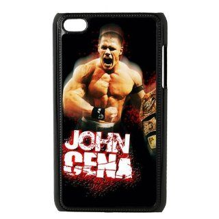WWE John Cena Hard Case Cover Skin for iPod Touch 4 4G 4th Generation  1 Pack   Black/White   1  Perfect Gift for Christmas Cell Phones & Accessories