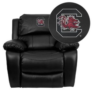 Flash Furniture South Carolina Gamecocks Embroidered Black Leather Rocker Recliner   Collegiate Furniture South Carolina Gamecocks
