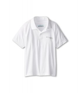 Columbia Kids Terminal Tackle Polo Shirt Boys Short Sleeve Pullover (White)