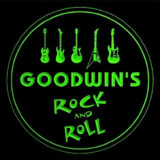 4x ccqp1377 g GOODWIN'S Guitar Weapon Rock & Roll Bar Beer 3D Engraved Drink Coasters Kitchen & Dining