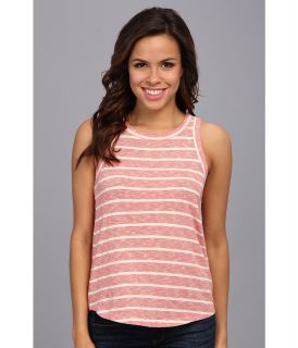 Lucky Brand Keyhole Stripe Tank Womens Sleeveless (Red)