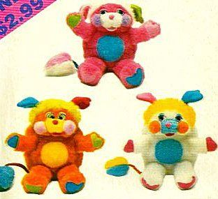 Butterick 4079 Set of Stuffed Toy Popples Pattern, Vintage 1986  Other Products