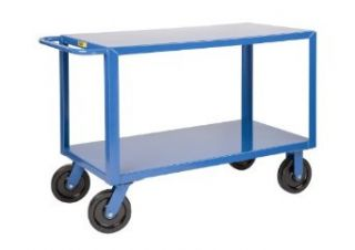 "Little Giant GH 8V2 4 Extra Heavy Duty Shelf Truck, 5000 lbs Capacity, 60"" Length x 30"" Width x 36"" Height, 2 Shelves Service Carts"