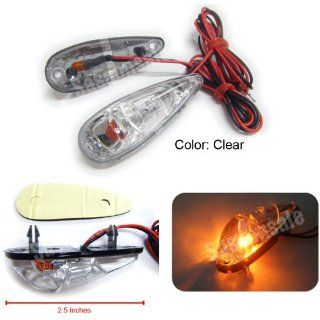 MIT Motors   CLEAR   Mini Universal Motorcycle Turn Signals Blinker Indicator   SUZUKI GSXR 600 750 1000 1100 1300 HAYABUSA B KING SV DL 650 S 1000 S TL1000R TL1000S V STROM Automotive