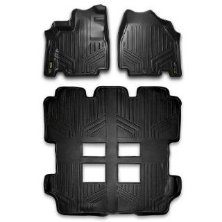 Maxliner MAXFLOORMAT Three Row Set Custom Fit All Weather Floor Mats For Select Honda Odyssey Models   (Black) Automotive