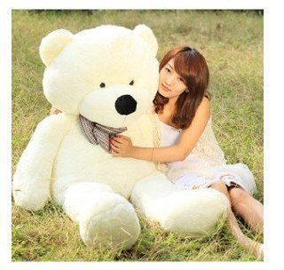 "Teddy Bear Toy Doll Super White 47"" Giant Huge Cuddly Stuffed Animals Plush Doll Toys & Games"