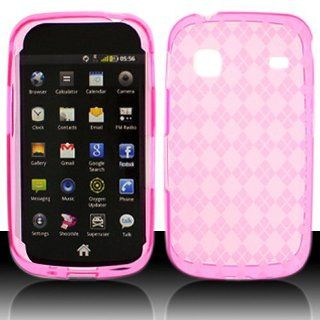 Transparent Clear Hot Pink Flex Cover Case for Samsung Repp SCH R680 Cell Phones & Accessories