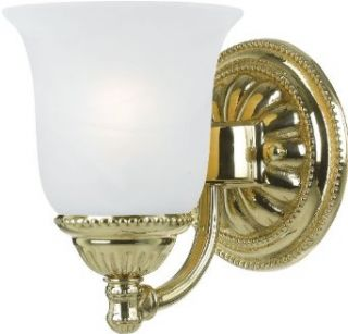 Crystorama Lighting 681 PB Wall Sconce with Frosted White Glass Shades, Polished Brass