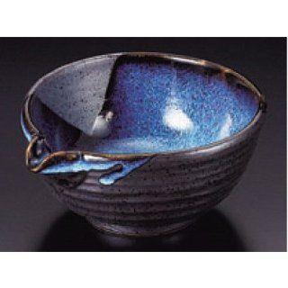 bowl kbu069 21 682 [5.24 x 2.76 inch] Japanese tabletop kitchen dish Small bowl large blue side of the story flow Tianmu 4.5 ball [13.3x7cm] restaurant restaurant business for Japanese inn kbu069 21 682 Kitchen & Dining