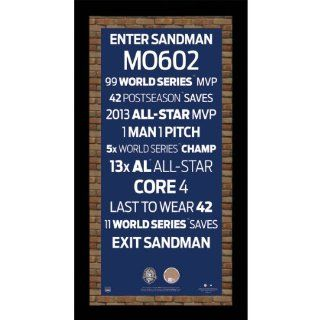 Mariano Rivera Retirement Subway Sign w/ Game Used Dirt Framed 9.5x19 7331 Style Sports Collectibles