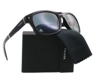 Prada PR13OS Folding Sunglasses 1AB/0A9 Black (Gray Lens) 58mm