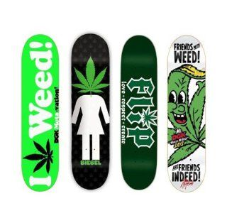 4 DGK Girl Flip Weed 420 8.0 Skateboard Deck Lot  Sports & Outdoors