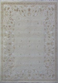 Carved Hand Knotted 6' X 8' Tibetan Handmade Wool & Silk Area Rug H1163   Carved Oriental Rug