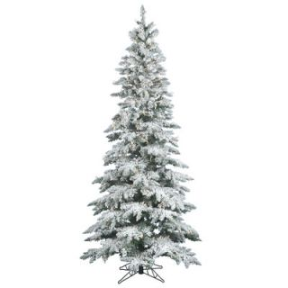 Vickerman Flocked Utica Fir 7 6 White Fir Artificial Christmas Tree