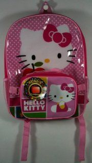 Hello Kitty Large Pink Polka Dot Backpack & Lunch Box Set Toys & Games