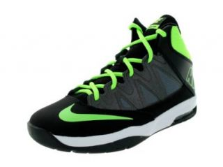 Nike Kids Air Max Stutter Step (GS) Black/Flash Lime/Mtlc Drk Grey Basketball Shoes 4 Kids US Shoes