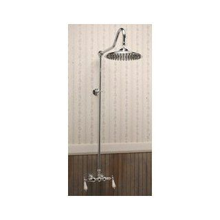 Randolph Morris Exposed Wall Mount Shower RM677BN Brushed Nickel   Tub And Shower Faucets