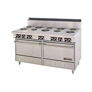"Garland S684 Commercial Electric Range 60""W, 6 Burners, 2 Ovens, 24"" Griddle Appliances"