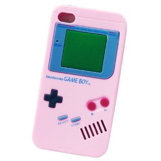 ke� for Apple iPhone 4 4G 4S Baby Pink Gameboy Game Boy Silicone Case Soft Skin Cover Cell Phones & Accessories