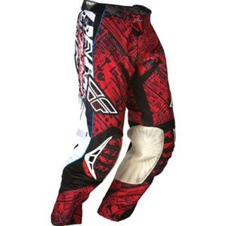 Fly Racing Evolution Youth Boys Motocross/Off Road/Dirt Bike Motorcycle Pants   Red/Black / Size 26 Automotive