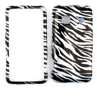 For Samsung Galaxy Prevail M820 Transparent Black White Zebra Case Accessories Cell Phones & Accessories