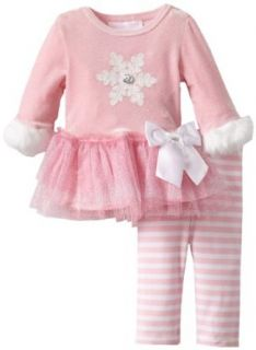 Bonnie Baby Girls Newborn Snowflake Applique Tutu Legging, Pink, 6 9 Months Infant And Toddler Pants Clothing Sets Clothing