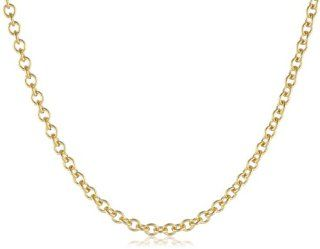 "Men's 14k Yellow Gold 2.5mm Rolo Chain Necklace, 24""  Curated Collection Jewelry"
