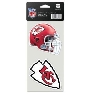 Diecutdecaltwo Kansas City Chiefs 4 Inch Die Cut Decal Set of Two Nfl Fan National Football League American Game Decoration Accessories  Sports Fan Automotive Decals  Sports & Outdoors
