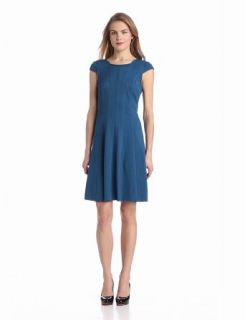 Adrianna Papell Women's Cap Sleeve Flare Dress Fit And Flare Dress