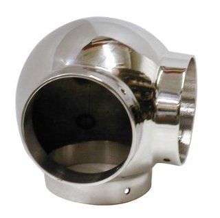 Lavi L40 703 2 2 In. Ball Elbow With Side Outlet   Polished Stainless Steel   Pipe Fittings