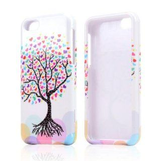 Love Heart Tree On White Hard Plastic Snap On Shell Case Cover For Apple Iphone 5c Cell Phones & Accessories