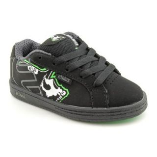 Etnies Metal Mulisha Fader Youth Boys Size 11 Black Nubuck Leather Skate Shoes Shoes