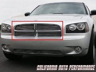2005 2006 2007 2008 Dodge Charger 4 PC Upper Mirror Polished Aluminum Billet Grille Automotive
