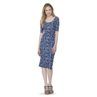 Mossimo Supply Co. Juniors Printed Midi Dress   Blue Tribal L(11 13)