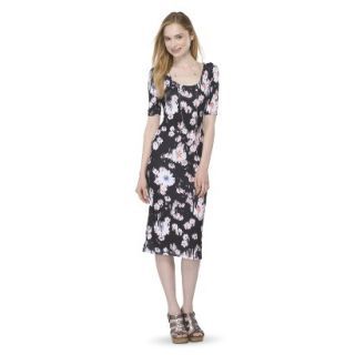 Mossimo Supply Co. Juniors Printed Midi Dress   Broken Floral XXL(19)