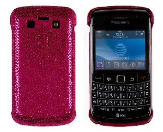 Hard Sparkles Case for BlackBerry Bold 9700   Hot Pink Cell Phones & Accessories