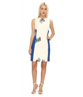 Versace Collection Print Colorblock Sheath Dress Womens Dress (White)