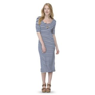 Mossimo Supply Co. Juniors Printed Midi Dress   Nightfall Blue XXL(19)