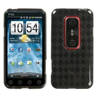 Smoke Argyle Pane Candy Skin Cover for HTC EVO 3D Cell Phones & Accessories
