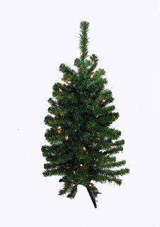 3' Battery Operated Pre Lit LED Pine Artificial Christmas Tree   Clear Lights   Christmas Tree With Battery Operated Lights