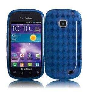 Straight Talk Samsung Galaxy Proclaim Blue Soft TPU Case Skin Cover Cell Phone Accessory 720C SCH S720C Cell Phones & Accessories