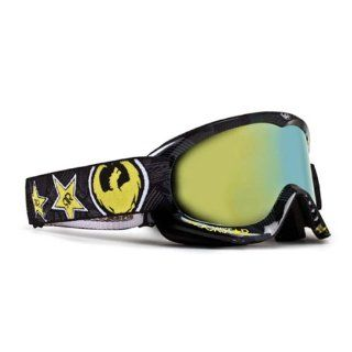Dragon Alliance MDX Ionized Goggles, Distinct Name Rockstar/Gold Lens, Primary Color Black, Gender Mens/Unisex 722 1355  Ski Goggles  Sports & Outdoors